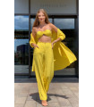 Woven Viscose Triple Suit Yellow